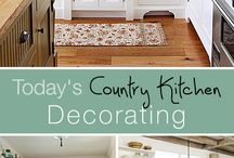 Country, retro, vintage kitchen