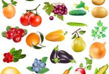 gyümölcs, zöldég