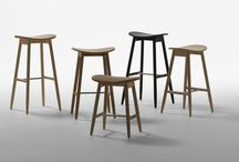 Icha Icha / A graceful collection in which Asian and Scandinavian furniture traditions meet. The desk and stools share the same slender yet strong construction. Icha Icha is named after the Japanese restaurant in Stockholm the stool was originally designed for.