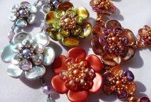Rose Petal beads - inspirations
