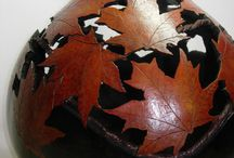 Carved Gourds