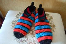 Pantuflas a crochet (Slippers)