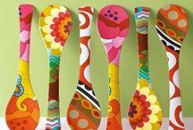 cucharas  pintadas