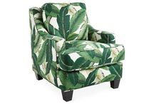 Banana Leaf Print on a Fabulous chair!