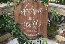 Wooden wedding