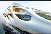 Futuristic boats