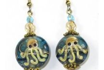 SBD Figure Lampwork Earrings / Handmade jewelry from cute and fun lampwork glass figures.