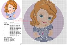 Sofia the First free Disney cross stitch patterns / Sofia the First free Disney cross stitch patterns
