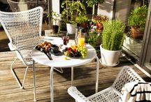 Holzdeck Gartentisch
