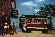 Трамваи, поезда, автомобили, транспорт