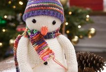 Free knitting snowman