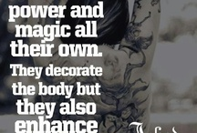 Quotes about tattooes / Inspirational quotes about tattoos and tattoo art.