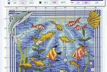 Cross stitch - fishes