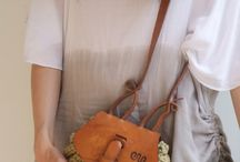 leather and fabric bags