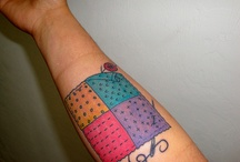 Sewing/Quilting/Crafting tattoos / My own patchwork tattoo and other ideas for inspiration for new tattoos I want to get.