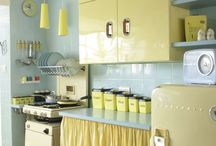 1950s and 1970s kitchens