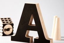 Wooden Letters / Wooden letters crafted from quality birch plywood, hand-finished.   Perfect as a bookshelf decoration for home or office, a personalised gift for a newborn or anniversary. Beautiful when standing alone, in combination of initials or spelling out inspirational words.