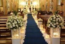 decoração de casamento em igreja