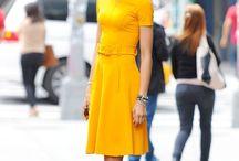 gelbe Kleider