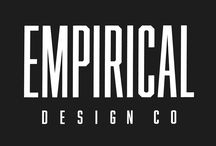 Logos & Branding by Empirical Design Co. / Designs created by Empirical Design Co.  We are a graphic design agency located in NYC. Our mission is to provide our clients with compelling graphics that ensure their brand will stand out from the crowd. We specialize in creating professional logo design, branding, apparel, merchandise, album art, press kits, advertisements & marketing materials for physical and digital media.  Contact Empirical Design Co. via email at nick@empiricaldesigns.net for a free consultation on your next project.