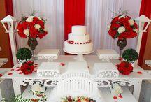casamento vermelho e branco.