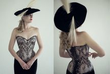 Pattern-Matched & Mirror-Matched Corsets / Corsets that feature a continuous picture, motif or pattern in the fashion fabric - the result of precise planning, cutting and stitching and considerable fabric wastage, due to the need for seam allowances - but the final effect is well-appreciated!