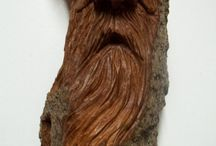 Bark carving