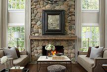 Fieldstone fireplaces / Fieldstone fireplaces
