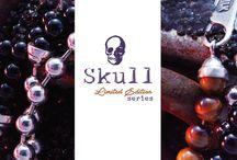 Skull stone beads series
