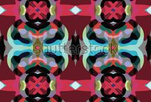 Blurred vector patterns / Vector Patterns consisting of smoothed elements. Patterns reminiscent of the effect of blurring or smoothing.