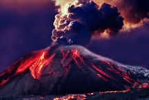 Nature: Pele / Pele as she lives.... Volcanic eruptions, lava flows, tubes, steam, earth recreated. / by Vidda Chan