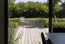 german kit home gets a modern garden / modern landscaping, granite paving, baufritz home, herb planter, letterbox feature wall, garden design, greencube