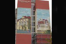 Külső dekoráció festés / Külső falfelületek dekorációs festése alpin technikával, kedvező áron