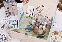 letters, postcards, notepad, sketchbook...