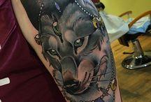 Tattoo волки