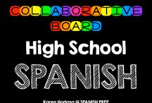 High School Spanish Collaborative Board / A High School Spanish collaborative board. Want to join this board? Follow me. Then send me an email with your Pinterest url at spanishprep@gmail.com *Limit yourself to three freebie/paid products per day!*
