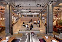 agile office with loft style