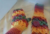 Hand crochet mittens