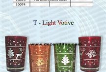 Glass Color Candle Votive