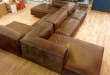 Birth of a Leather Sofa / A set of pictures detailing the creation of a leather sofa; from beginning to ending.