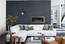 Salón / Ideas que veo para mi pequeño salón, sofá, muebles de tv, ideas de almacenaje