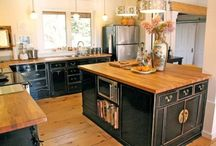 Rooms - kitchen / by Howtohomemake.com