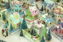Putz houses - old & new / Glitter Houses, Christmas Villages, Christmas Gardens and Train Gardens