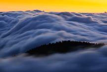 Waves of cloud