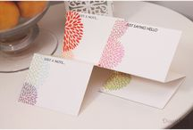 Note cards and box