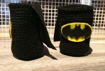 Batman drink cozy / Batman drink cozy with cape