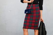 OFS_plaid skirt