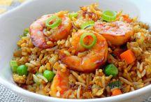 crevette au riz