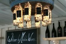 Bouteille de vin lustre