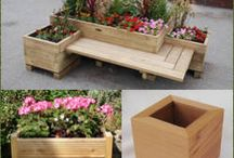 Цветочные ящики со скамейкой